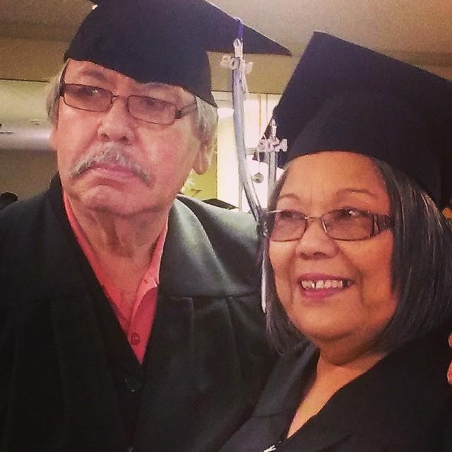 Mis Padres en su Graduación! HECTOR & Santa Rodriguez